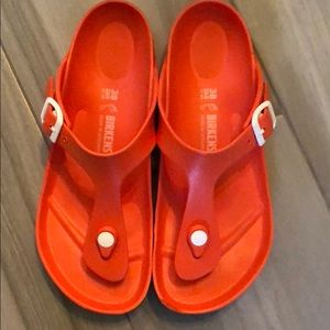 Birkenstock rubber sandals
